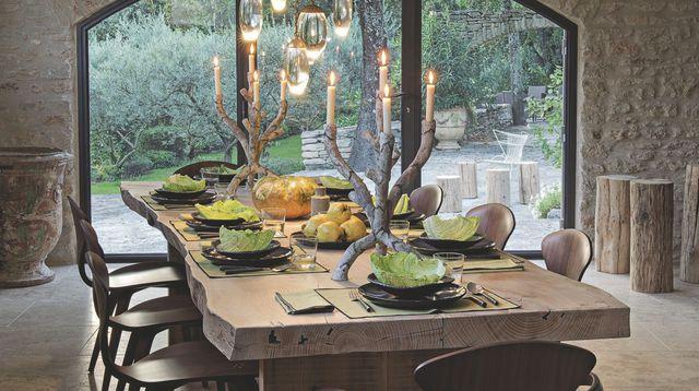 Table De Ferme Et Chaise Moderne – Votre inspiration à la maison